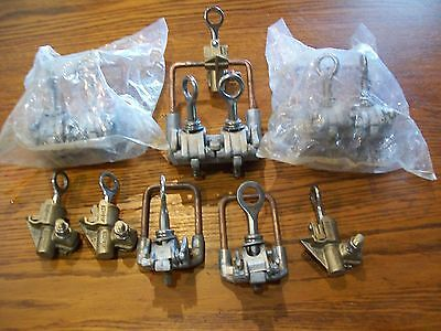 Big Lot Of Line Tap Clamps Hps, Richards, Cmc Brands Ground