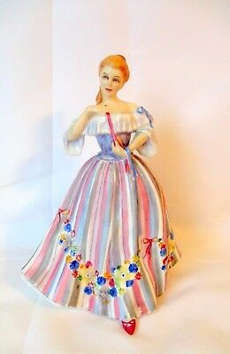 Royal Doulton Figurine Adornment HN 3015 young lady in colorful dress