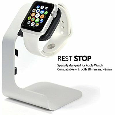 Apple Watch Charging Stand-Tranesca Aluminum 38mm & 42mm Silver Grey Cell Phone