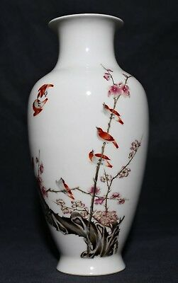 Exquisite Rare China Hand Painting Porcelain Bottle Vase Marks Collection FA232