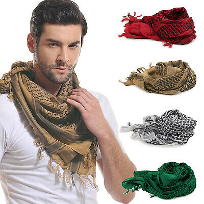 Mens Women Keffiyeh Shemagh Army Military Tactical Arab Desert Scarf Head Wrap