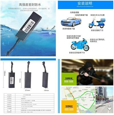 GPS Tracking Tracker With Cut Car Engine Geo-fence for Car Motorcycle Scooter