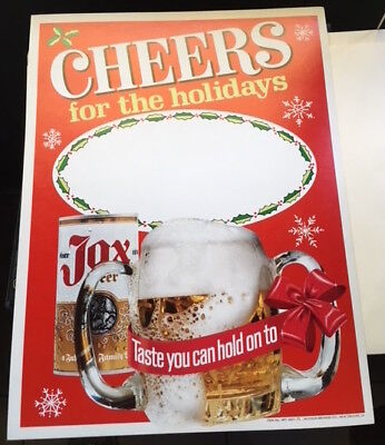 "Jax Beer ""cheers For The Holidays"" Point-Of-Sale Poster- Hard To Find-Must See"