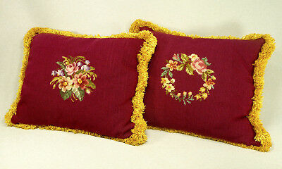 Antique Needlepoint Pillows