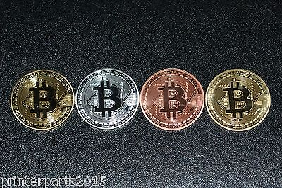 Bitcoin!!4pcs Coins (Collectible) Gold-Silver-Copper-Bronze. Fast Shipping.