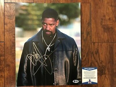 WOW Denzel Washington Signed 11X14 Photo Beckett COA B40233 L@@K PSA