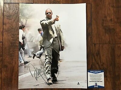 WOW Denzel Washington Signed 11X14 Photo Beckett COA B12020 L@@K PSA
