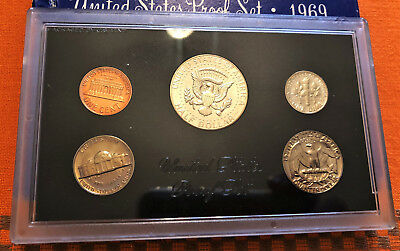 "1969 ""S"" UNITED STATES (US) 5 Coin PROOF SET ** FDC ** Beautiful Coins!!"