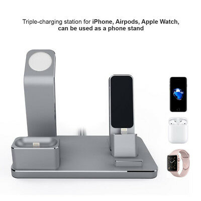4 in 1 Aluminum Charging Stand Charging Docks Holder For Apple Watch For iPhone