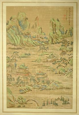 ANTIQUE or VINTAGE Chinese or Japanese Scroll Painting - Lot H of Collection