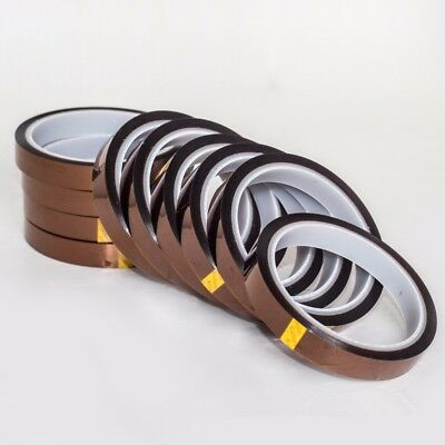 20mm/15/10/5mm X 33M 100ft Kapton Tape High Temperature Heat Resistant Polyimide