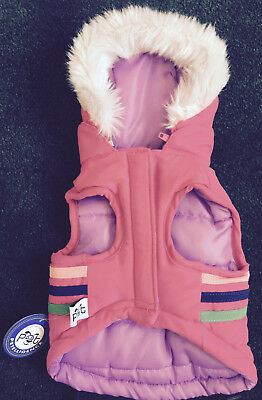 Wholesale Lot Of 12  Large Pink Pet Hooded Jackets  (Reversible)