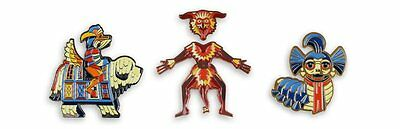 Mondo Labyrinth Enamel Set of 3 Pin Set -  DKNG - Worm Sir Didymus David Bowie