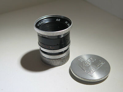 Kern-Paillard Yvar AR 16mm f/2.8 C mount lens, Super Smooth Focus & Aperture