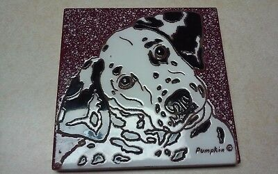 Very Nice Dalmation Tile Trivet By Pumpkin Painted Tiles New Mexico