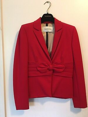 Valentino Red Bow Evening Jacket Size 8, NEW