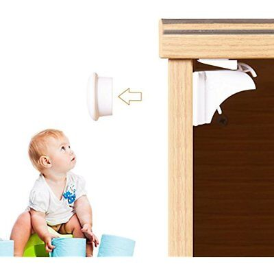 Magnetic Child Safety Cabinet Locks (6 Locks/2 Keys) With 3M Adhesive For &