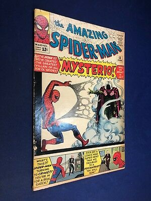 Amazing Spider-Man #13 (1964 Marvel) 1st appearance of Mysterio NO RESERVE