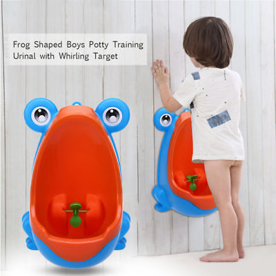 Home Frog Shaped Boy Training Urinal Potty Training Urinal w/Whirling Target