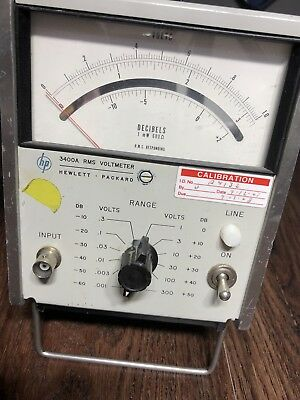 HP RMS Voltmeter -- 3400A -- Used