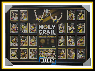 Richmond 2017 AFL Premiers Holy Grail Limited Edition Deluxe Print Framed MARTIN