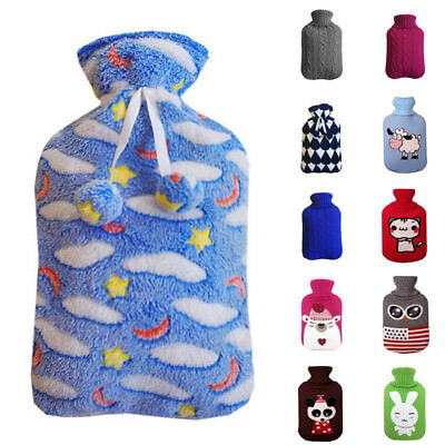 2L Hot Water Bottle Warm Keeping Knitted Bag Cover Heated Sleeve  Coldproof Case