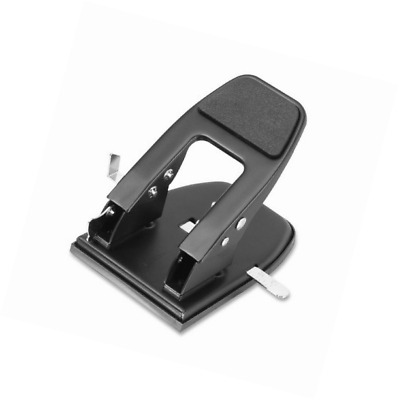 Officemate Heavy Duty 2-Hole Punch, Padded Handle, Black, 50-Sheet Capacity (900