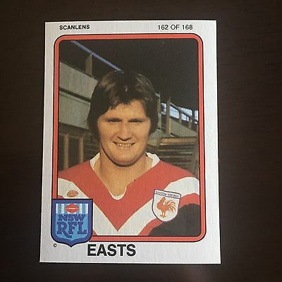 1981 Scanlens Rugby League Card #162 Des O'Reilly