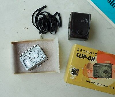 Sekonic Mini Clip-on Light Meter LC-2 with Case and Box