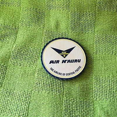 """Collectable drink coaster-""""AIR NAURU THE AIRLINE OF CENTRAL PACIFIC"""""""