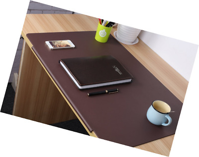 LOHOME Desk Pads Artificial Leather Laptop Mat with Fixation Lip, Perfect Desk M
