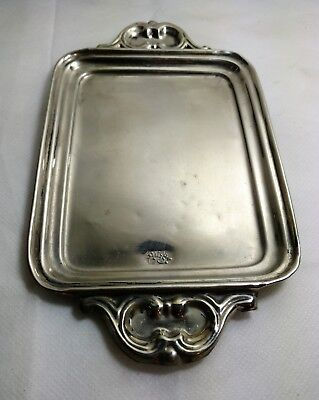 Silver Hand Made Signed Persian Tea Tray #176