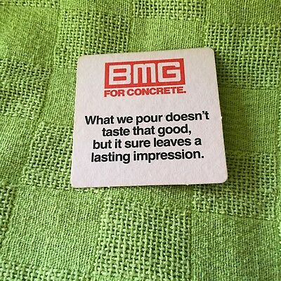 """Collectable drink coaster-""""BMG FOR CONCRETE """" Perfect condition."""