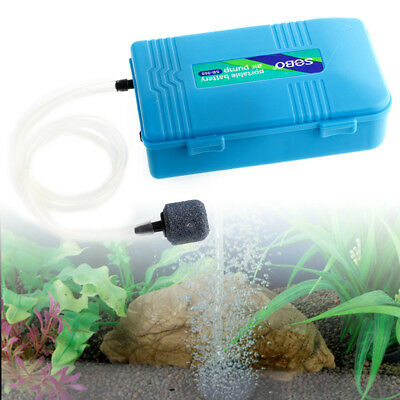 Portable Battery Air Pond Powered Pump Oxygen Backup For Aquarium Fish Tank New