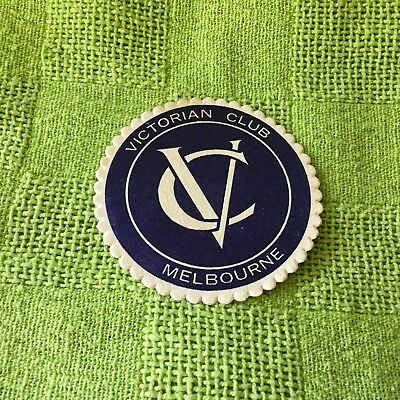 """Collectable drink coaster-""""VICTORIAN CLUB MELBOURNE"""" Very good condition."""