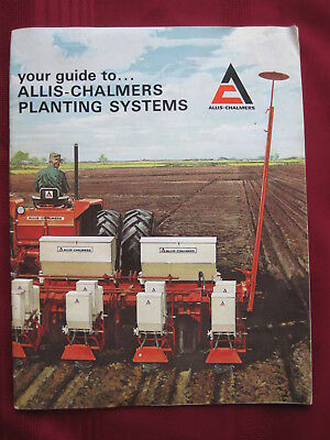 Vintage 1967 Guide to Allis-Chalmers Planting Systems - 50 to 600 Series #6710