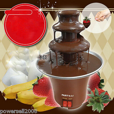 Mini High-Quality Chocolate Fountain Household 3-Tier Chocolate Fondue Machine