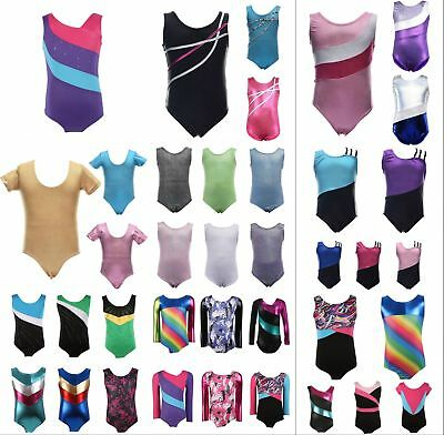 Kids Baby Girls Gymnastics Dancewear Ballet Leotard Tutu Skirt Dress Outfits US