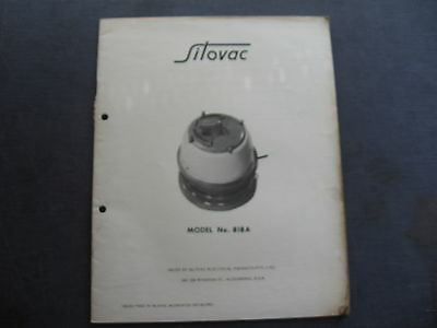 Silvac Model 818A  PARTS CATALOGUE