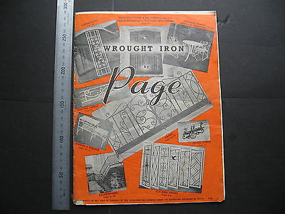 H & J Page Moorabbin Wrought Iron Furniture & Accessories 1966