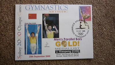 Li Xiaopeng China Gymnastics 2000 Olympic Games Gold Medal Win Cover