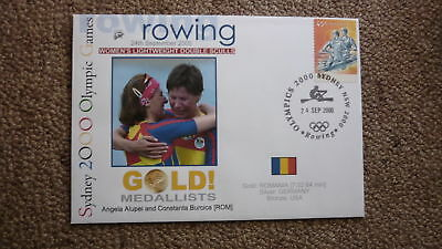 Romania Womens Double Sculls Rowing 2000 Olympic Games Gold Medal Win Cover