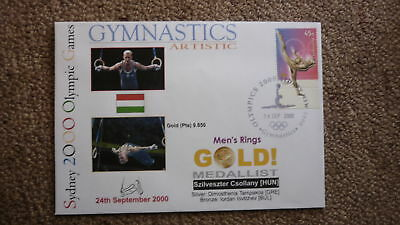 Szilveszter Csollany Hungary Gymnastics 2000 Olympic Games Gold Medal Win Cover
