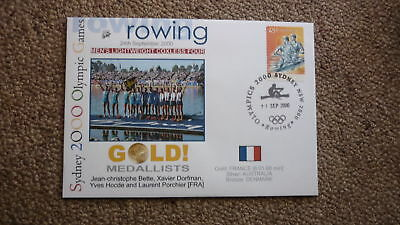 France Mens Coxless Fours Rowing 2000 Olympic Games Gold Medal Win Cover