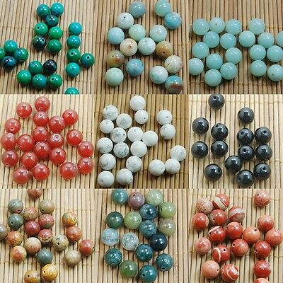 NEW Wholesale DIY Jewelry Making Natural Gemstone Round Spacer Beads 4/6/8/10mm