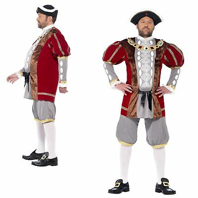 Adult Mens Deluxe King Henry VIII 8th Historical Tudor Fancy Dress Costume