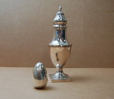 Antique sugar sifter and pepperette shaker (WH)