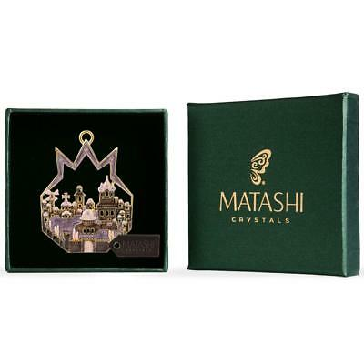 Matashi Gold-Plated Pomegranate Shaped w/ Ancient City Hanging Ornament (Pewter)