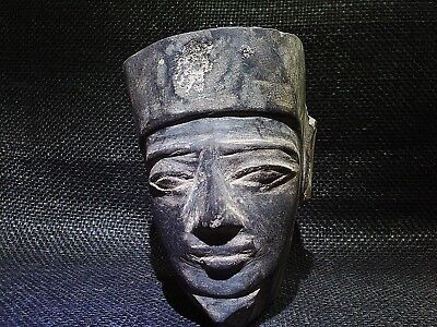 ANCIENT EGYPTIAN ANTIQUE Head of Neith the Goddess of War Sculpture 484–425 BC