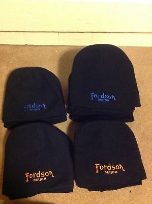 Fordson Beanie hat Unisex style Navy or Black with Fordson major embroidery on